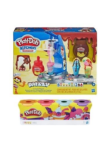 Hasbro Play-Doh Renkli Dondurma Dükkanim Ve Play-Doh 4'Lü Hamur Renkli